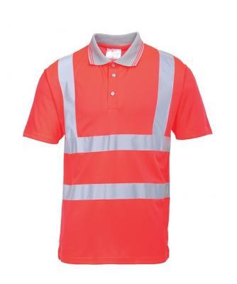 S477 - Jól láthatósági teniszpóló - piros 1.