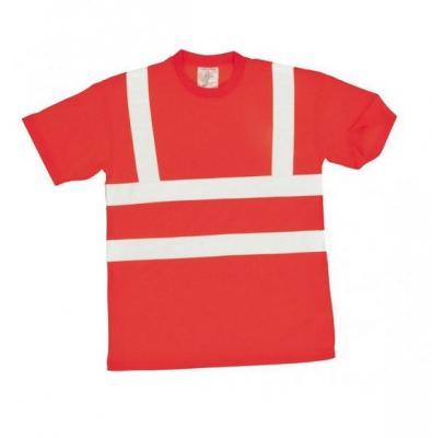 S478 - Jól láthatósági póló - piros 1.