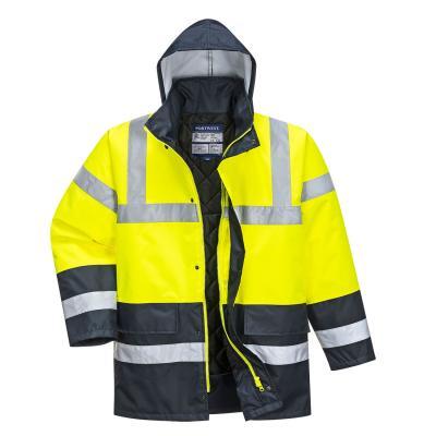 S466 - Kontraszt Traffic kabát-sárga/tengerészkék 1.
