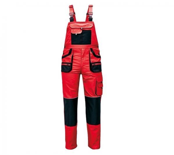 FF CARL BE-01-004 piros/fekete kertésznadrág 1.