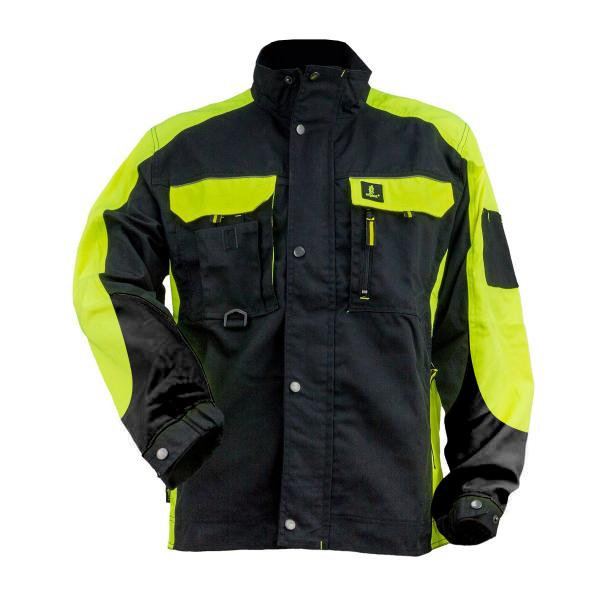 kabát Urgent-Y fekete-neon 1.