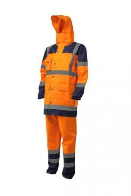 HYDRA HI-VIS PE esőöltöny narancs/kék 1.