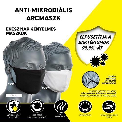 2 rétegű anti-mikrobiális arcmaszk (25db) 1.