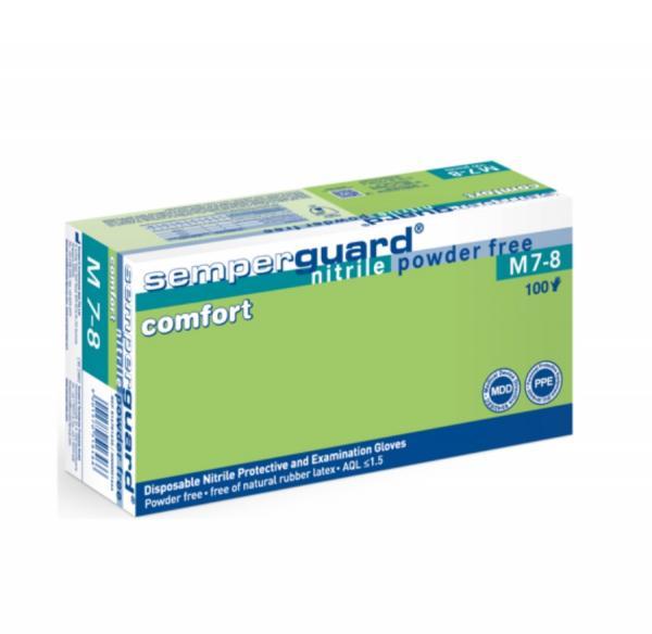 egyszerhasználatos púdermentes nitril kesztyű 1.