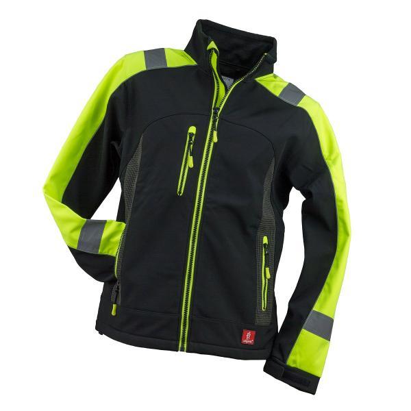 fekete/UV narancs softshell kabát 1.