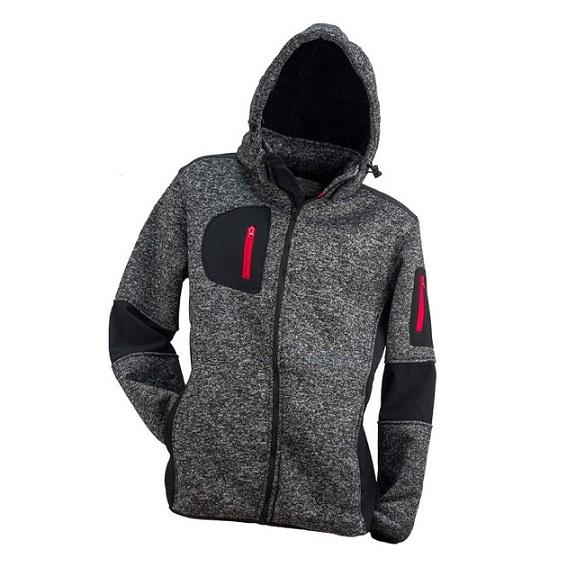 Urgent pulóver bélelt cipzáros kapucnis szürke W18 12