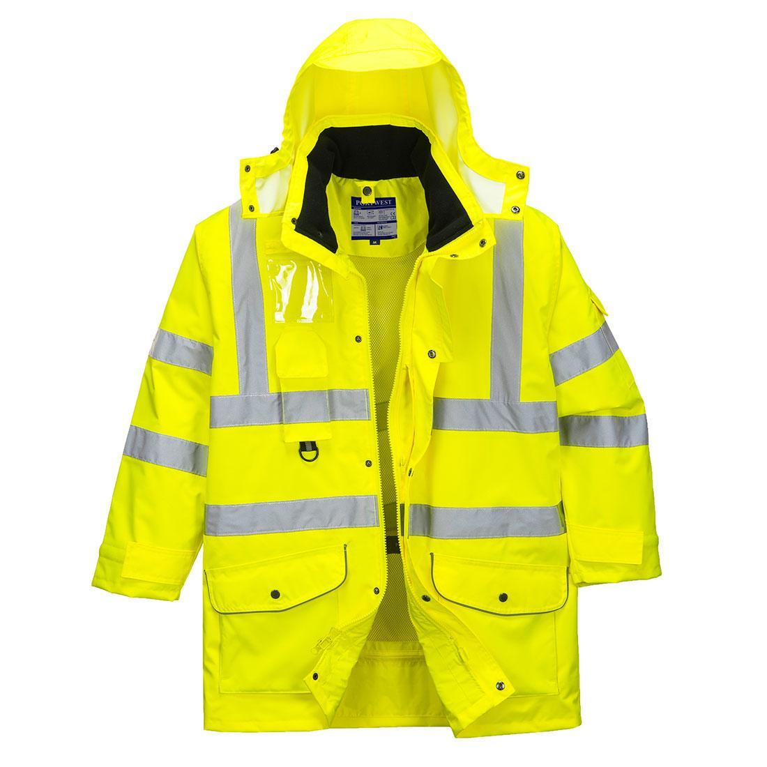 S427 - Jól láthatósági 7 az 1-ben kabát - sárga  81e4e70379